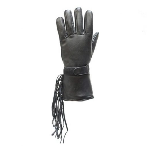All Leather Motorcycle Gauntlet Glove 2
