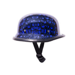 Blue Skull German Novelty Motorcycle Helmet