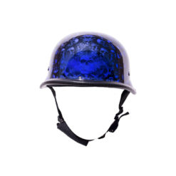 Blue Skull Graveyard German Novelty Motorcycle Helmet