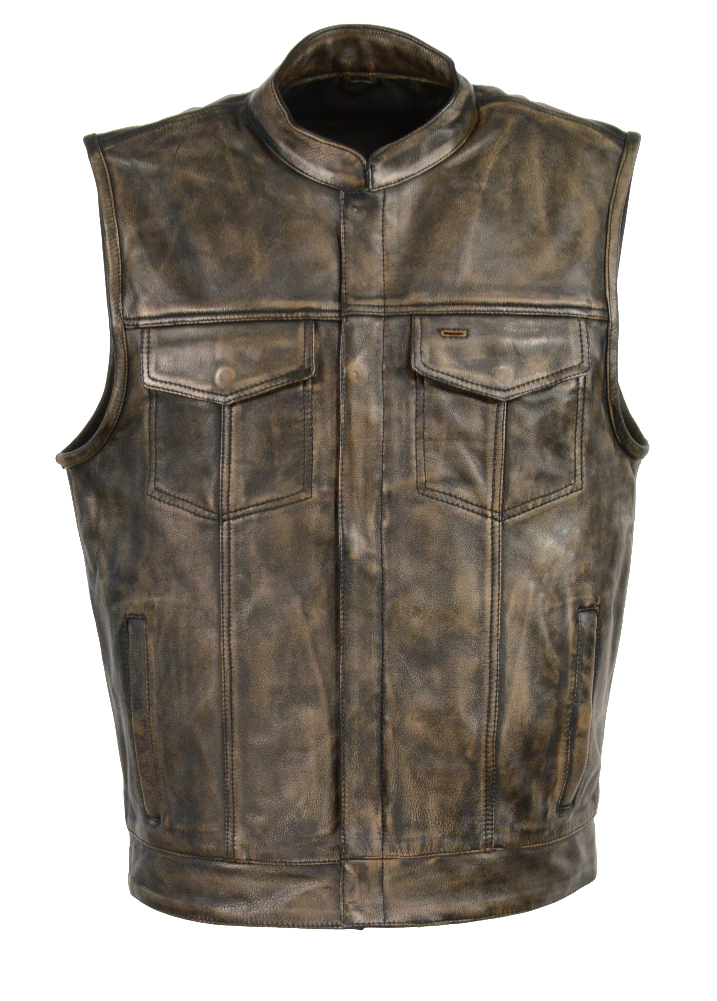 Butter Soft Distressed Brown Son Of Anarchy Style Leather