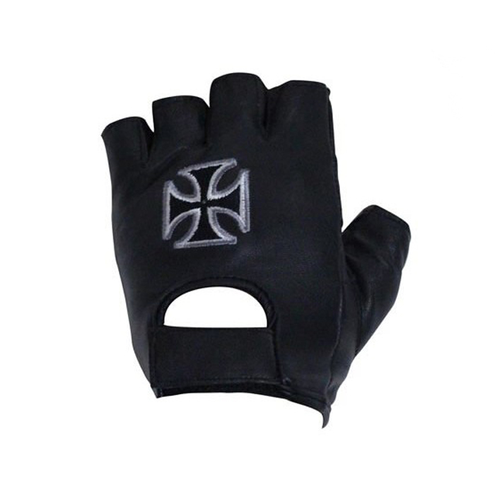 motorcycle-fingerless-gloves-with-chopper-cross