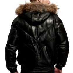 Original Goose | Bryan Leather/Down Filled V-Bomber