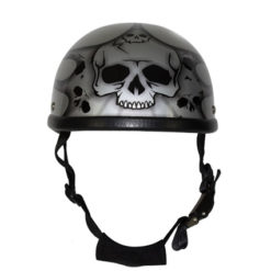 Silver Motorcycle Novelty Helmet