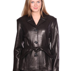 NUBORN LEATHER AMELIA LEATHER BLAZER