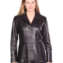 NUBORN LEATHER TRIBECA LEATHER BLAZER