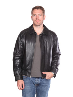 Christian NY Easton Leather Bomber