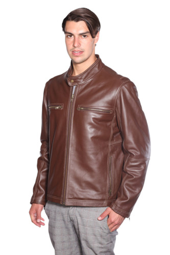 NuBorn Leather Lance Moto Leather Jacket