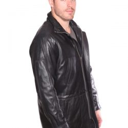 Christian NY Garner Leather Parka