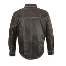 20 Best Distressed Gray Motorcycle Leather Jackets For Men