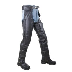 mesh lined and braided z o insulated leather chaps side view 72696.1594446036.1280.1280