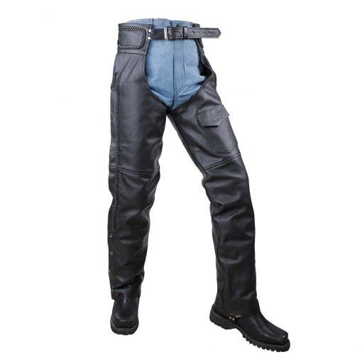 mesh lined and braided z o insulated leather chaps 99721.1594446030.1280.1280